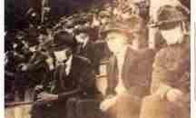 Μια σπάνια φωτογραφία με φιλάθλους να φοράνε μάσκες κορονοϊού στην πανδημία του 1918