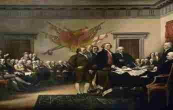 Στις 4 Ιουλίου του 1776 εγκρίνεται η Διακήρυξη Ανεξαρτησίας των ΗΠΑ