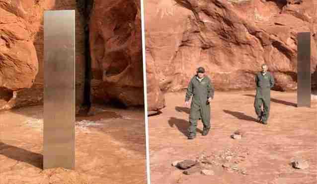 ΗΠΑ: Μυστηριώδης μεταλλικός μονόλιθος εντοπίστηκε στη μέση της ερήμου