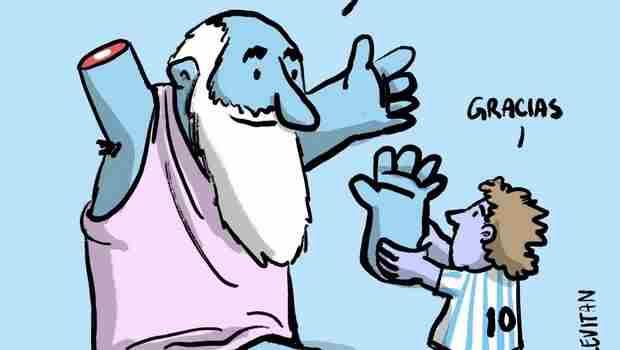 """Μαραντόνα : Το τρομερό σκίτσο με το """"χέρι του Θεού"""""""