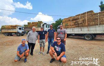 Ο Σταματόπουλος στο πλευρό των πυρόπληκτων κτηνοτρόφων της Γορτυνίας